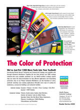 industrial paint trade magazine ad copywriting