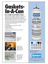 Sprayon RTV sealants ad